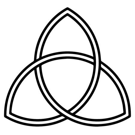 Religiöses Zeichen. Christentum. Triquetra. Vektorformat.