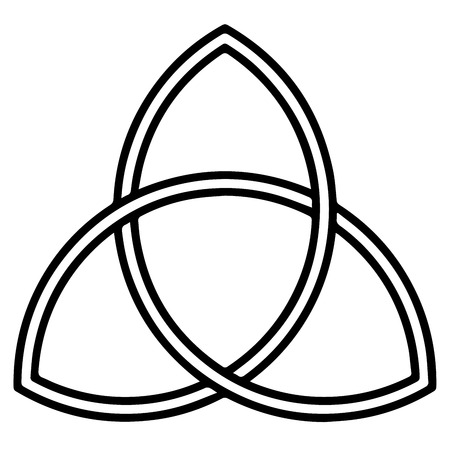 Religious sign. Christianity. Triquetra. Vector Format. Illustration