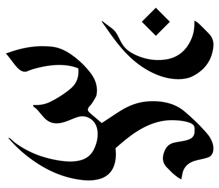 hinduismo: signo religioso. Hinduismo. símbolo de Aum. Formato del vector.