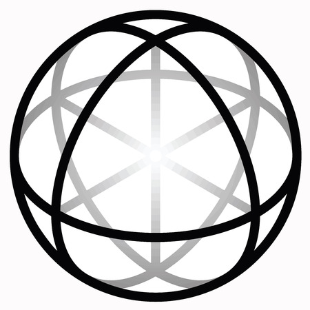 credence: Religious sign. Wicca and Neopaganism. Sphere of Deiwos. Vector Format. Illustration