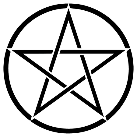 credence: Religious sign. Wicca and Neopaganism. Pentacle. Vector Format.