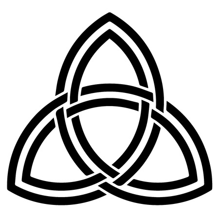credence: Religious sign. Wicca and Neopaganism. Triquetra (Celtic). Vector Format. Illustration