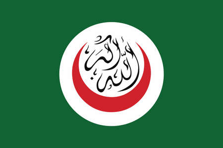credence: Flag of the Organisation of Islamic Cooperation. Vector Format. Illustration
