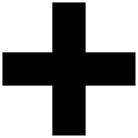 credence: Religious sign. Christianity. Greek cross. Vector Format.