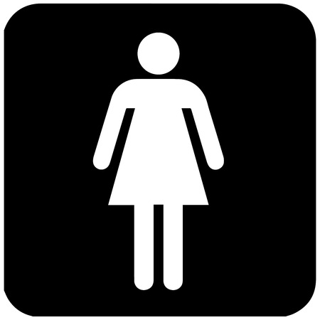 Gender Symbol Toilet Symbol In Unicode Womens Restroom Vector