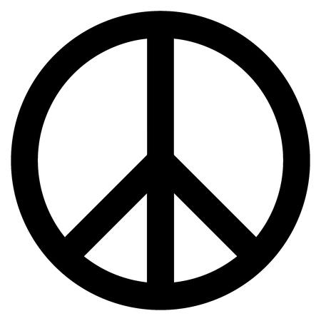 disarmament: Peace symbol. The symbol originally designed for the British nuclear disarmament movement is now widely used. Vector Format.