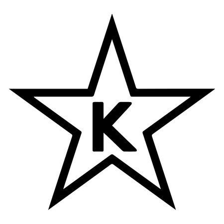 Star-K Kosher Certification, also known as the Vaad Hakashrus of Baltimore, is a kosher certification agency. Star-K symbol as found on certified products. Vector Format.