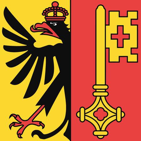 Bandera del cantón de Ginebra, Suiza. Formato vectorial Ilustración de vector