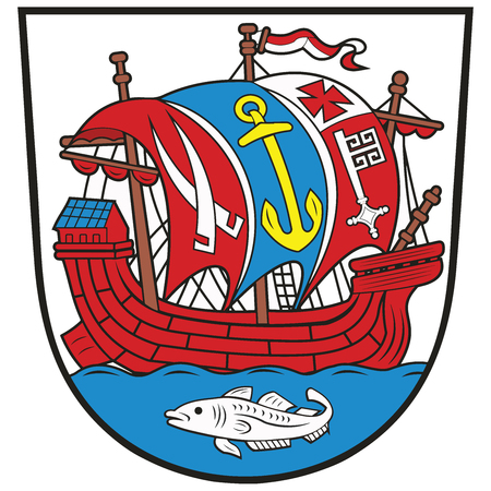 bremen: Coat of arms of Bremerhaven in the federal state of Bremen, Germany. Vector Format.