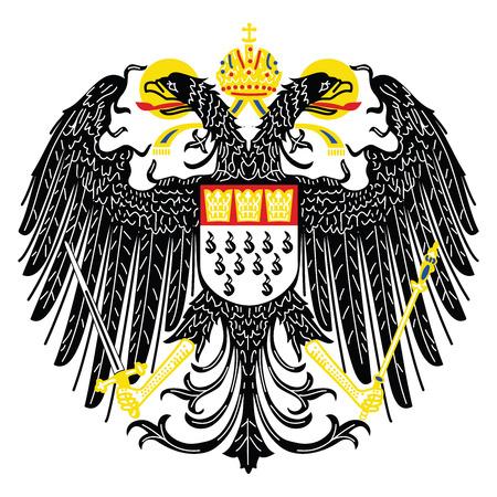 Wappen von Köln, Deutschland. Vektor-Format.