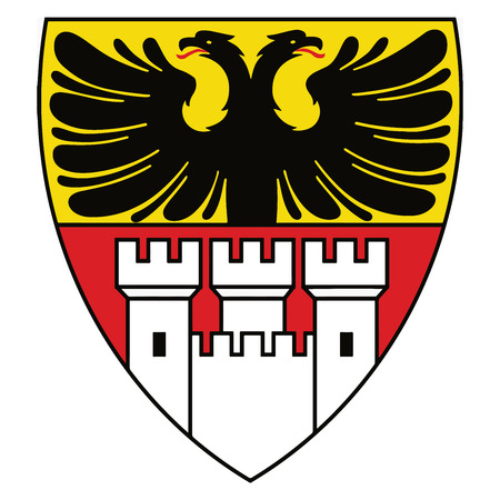 Coat of arms of Duisburg, Germany. Vector Format. Illustration