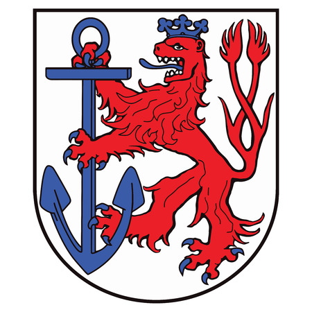 Coat of arms of Dusseldorf, Germany. Vector Format.