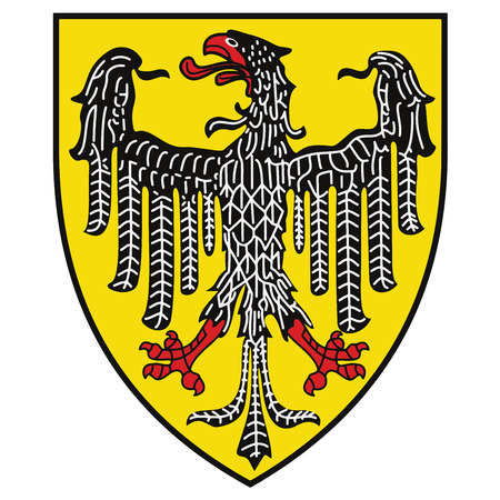 Coat of arms of Aachen, Germany. Vector Format.