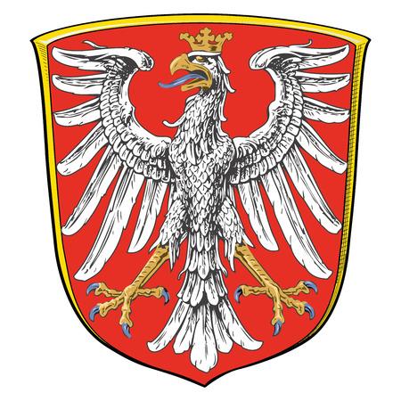 Coat of arms of Frankfurt am Main, Germany. Vector Format. Illustration