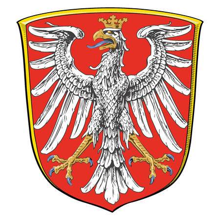 polity: Coat of arms of Frankfurt am Main, Germany. Vector Format. Illustration
