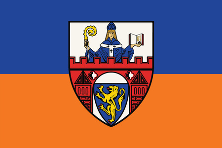 Flag of Siegen, Germany. Vector Format.