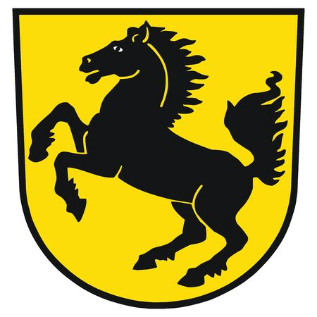 Coat of arms of Stuttgart, Germany. Vector Format. Illustration