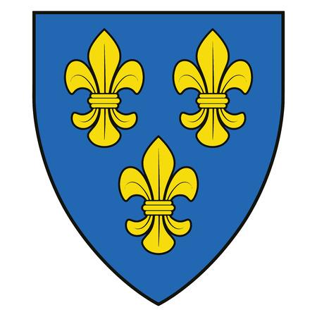Coat of arms of Wiesbaden, Germany. Vector Format.