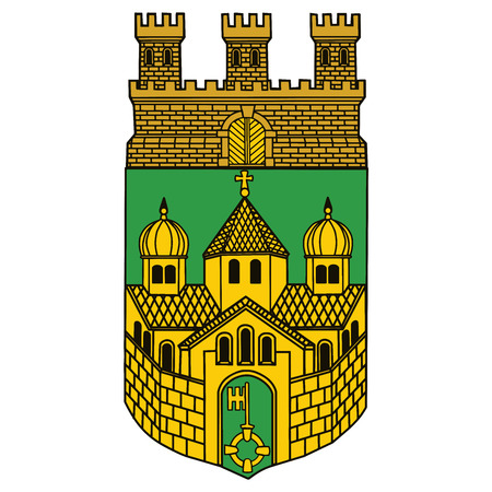 Coat of arms of Recklinghausen, Germany. Vector Format.