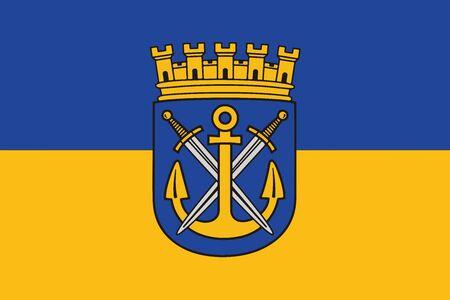 Flag of Solingen, Germany. Vector Format.