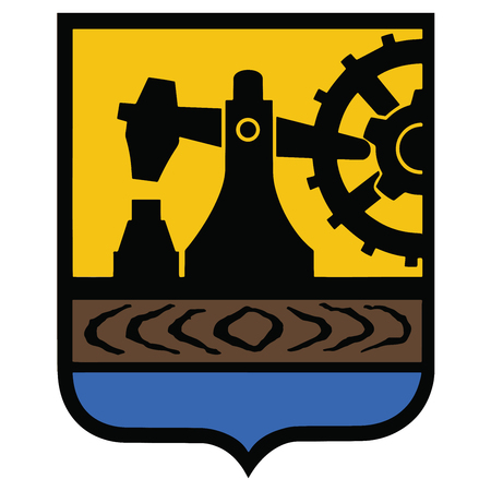 Coat of arms of Katowice, Poland. Vector Format.