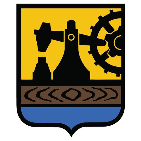 Herb Katowic, Polska. Format wektorowy.