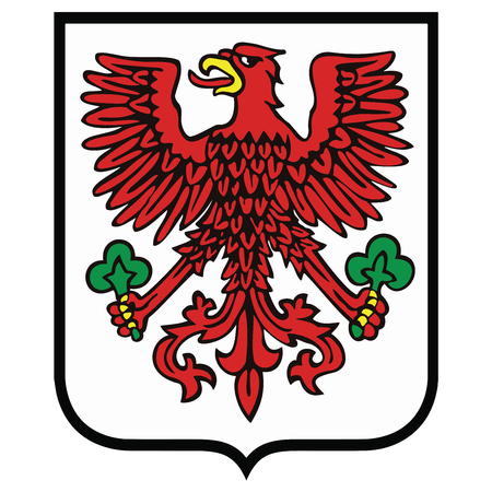 Coat of arms of Gorzow Wielkopolski, Poland. Vector Format.