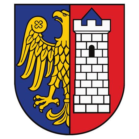 Escudo de Gliwice, Polonia. Formato vectorial