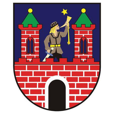 Coat of arms of Kalisz, Poland. Vector Format. Illustration