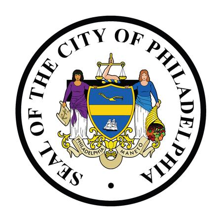 Seal of Philadelphia, Pennsylvania, USA.