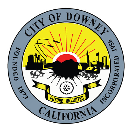 Seal of Downey, California, USA.