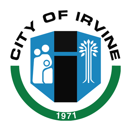 format: Seal of Irvine, California, USA. Illustration