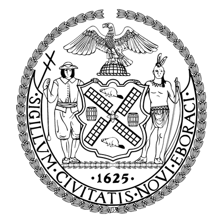 Seal of New York City, USA. Vector Format.