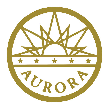 Seal of Aurora, Colorado, USA. Vector Format.