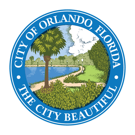 Seal of Orlando, Florida, USA. Vector Format. Illustration