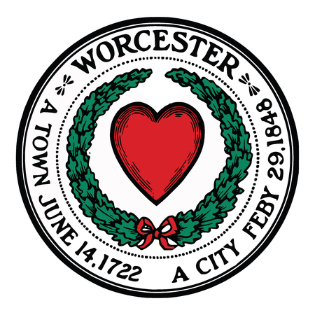 Seal of Worcester, Massachusetts, USA. Vector Format.