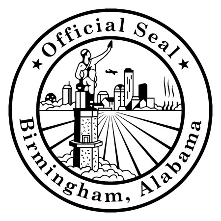 Seal of Birmingham, Alabama, USA. Vector Format.