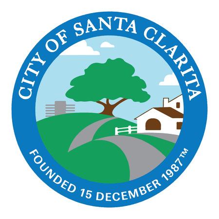 Seal of Santa Clarita, California, USA. Vector Format. Illustration