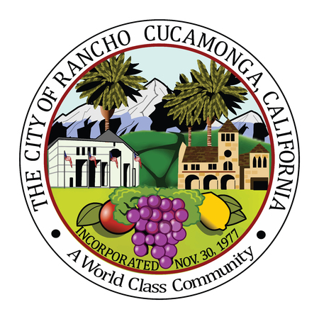 Seal of Rancho Cucamonga, California, USA. Vector Format.