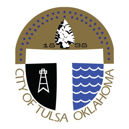 Seal of Tulsa, Oklahoma, USA. Vector Format. Illustration