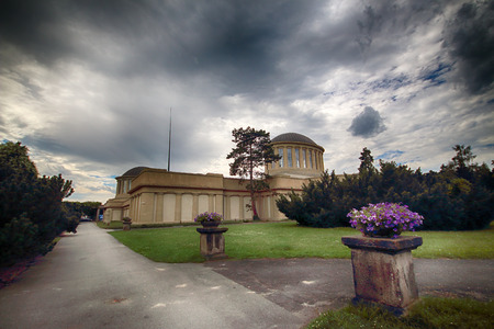 WROCLAW, POLAND - AUGUST 04, 2017: The Four Domes Pavilion, the seat of the new branch of the National Museum in Wroclaw, was built in 1912 by the distinguished architect Hans Poelzig.