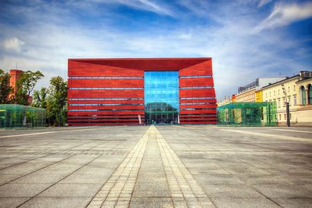 WROCLAW, POLAND - AUGUST 18, 2017: The National Forum of Music in Wroclaw, opened in 2015, operates the state of the art multifunctional concert venue. Designed by Kurylowicz and Associates. Editorial