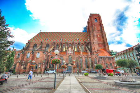 WROCLAW, POLAND - AUGUST 23, 2017: Cathedral of St. Mary Magdalene is one of the oldest temples in the city. Built in 1226-1232, it was the first parish church, gathering the then German colonists. Editorial