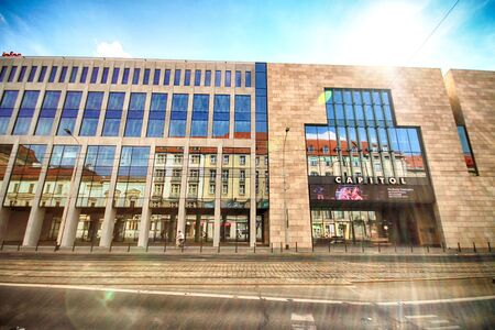 WROCLAW, POLAND - AUGUST 19, 2018: Capitol Music Theatre (built in 1929, redevelopment in 2011-2013) in Wroclaw, Poland. Architect (redevelopment): KKM Kozien Architekci.