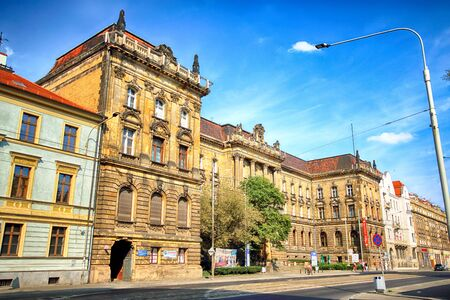 WROCLAW, POLAND - AUGUST 19, 2018: Pilsudskiego Street in Wroclaw, Poland. Editorial