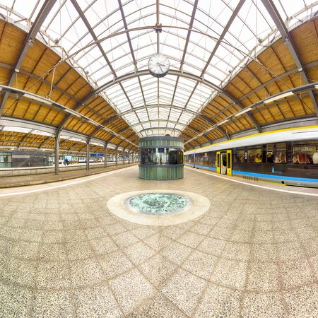 WROCLAW, POLAND - MAY 03, 2019: Main Railway Station in Wroclaw (Wroclaw Glowny). Built in the mid-19th century near the centre of the city. Total renovation before EURO 2012. Redakční