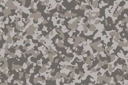 Brown and grey Camouflage. Camo background, military pattern, army and sport clothing, urban fashion. Vector Format. 2:3 aspect ratio. Ilustración de vector
