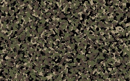Brown and green Camouflage. Khaki Camo background, military pattern, army and sport clothing, urban fashion. Vector Format.