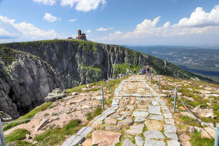 Summer landscape of Sniezne Kotly (literally Snowy Pits, Snowy Cirque, 1175 m above sea level), are two glacial cirques situated in Poland in the Sudetes in the Karkonosze National Park.