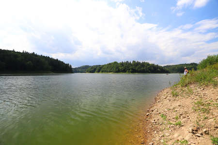 Pilchowice Lake in the middle of summer, Poland, Europe. Stockfoto
